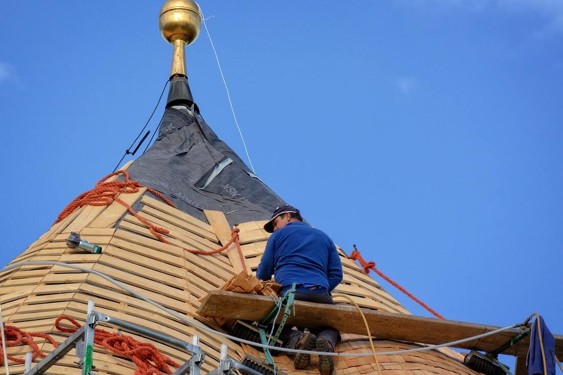Saginaw roof inspection at work